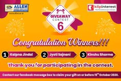 Giveaway 6 Winners